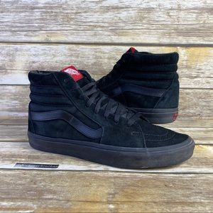 Vans High Pro Suede Leather Triple Black Skate